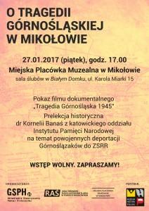 plakat Mikołów bez spadu
